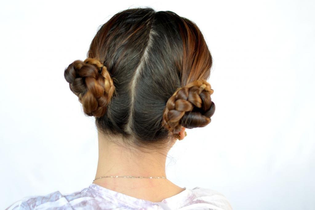 рожки из волос как сделать