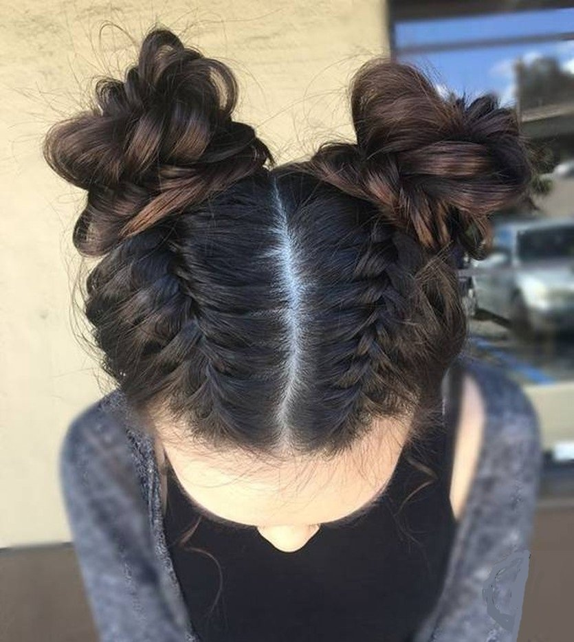 прическа рожки из волос