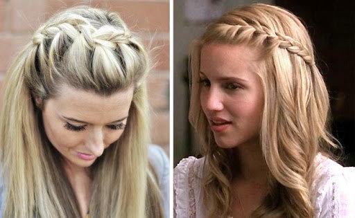Плетение кос помогает приоткрыть лицо