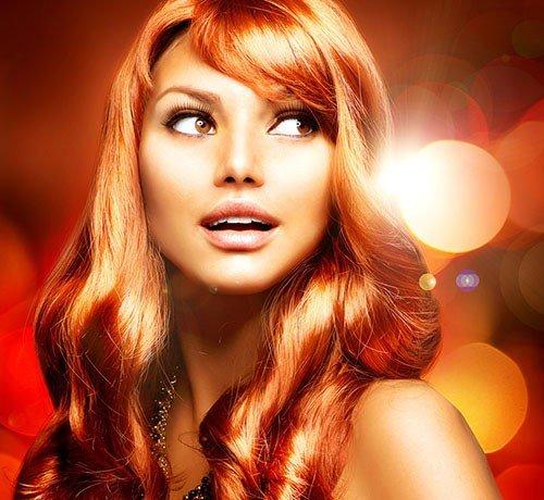 рыжий цвет волос это какой цвет