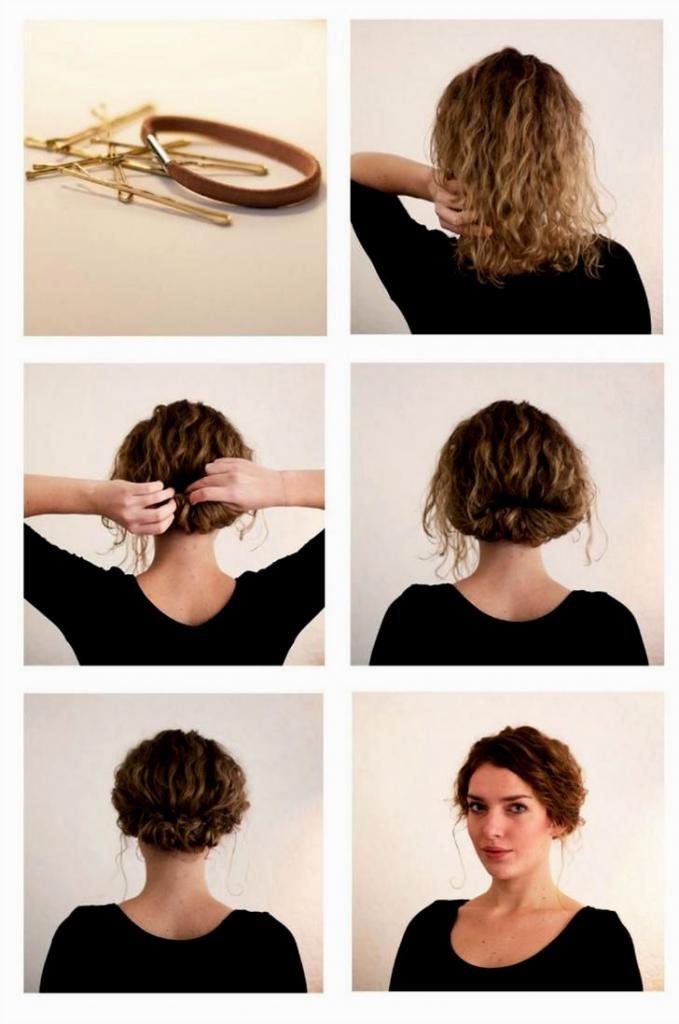 прически с кудрями на средние волосы