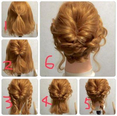 Прически на средние волосы с локонами: обзор стильных идей и вариантов, техника выполнения, фото