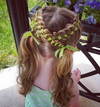 "Косичка ""сердечко"", как заплести волосы девочке"