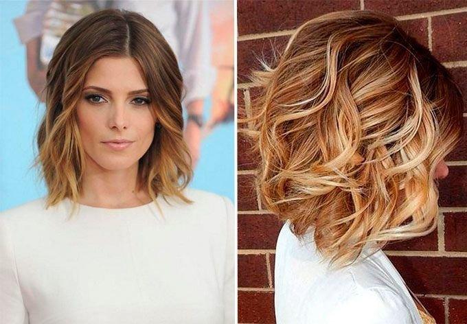 окрашивание волос прядями