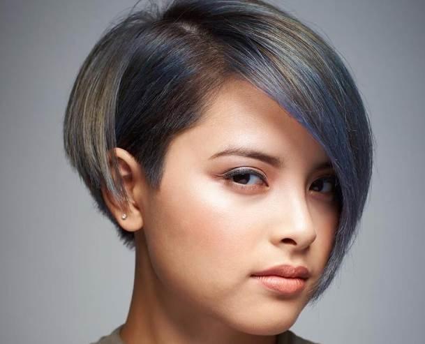 укладка на средние волосы без челки