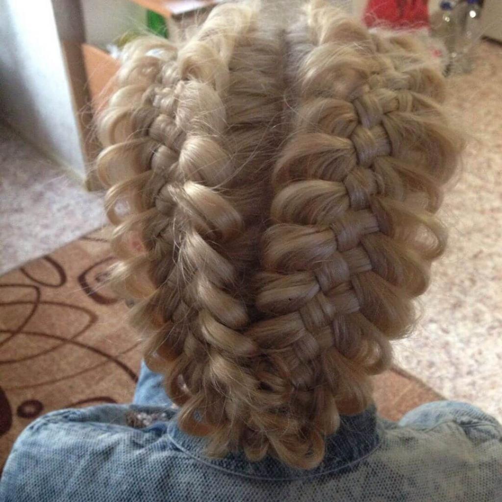 Коса пятипрядная