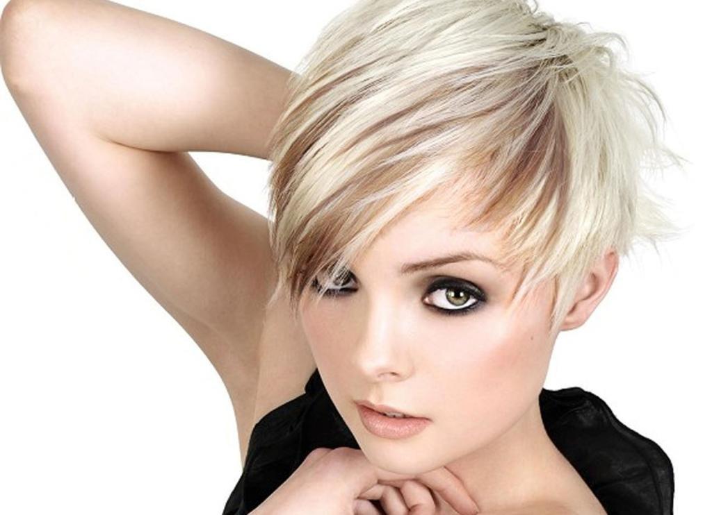 милая стрижка для тонких волос