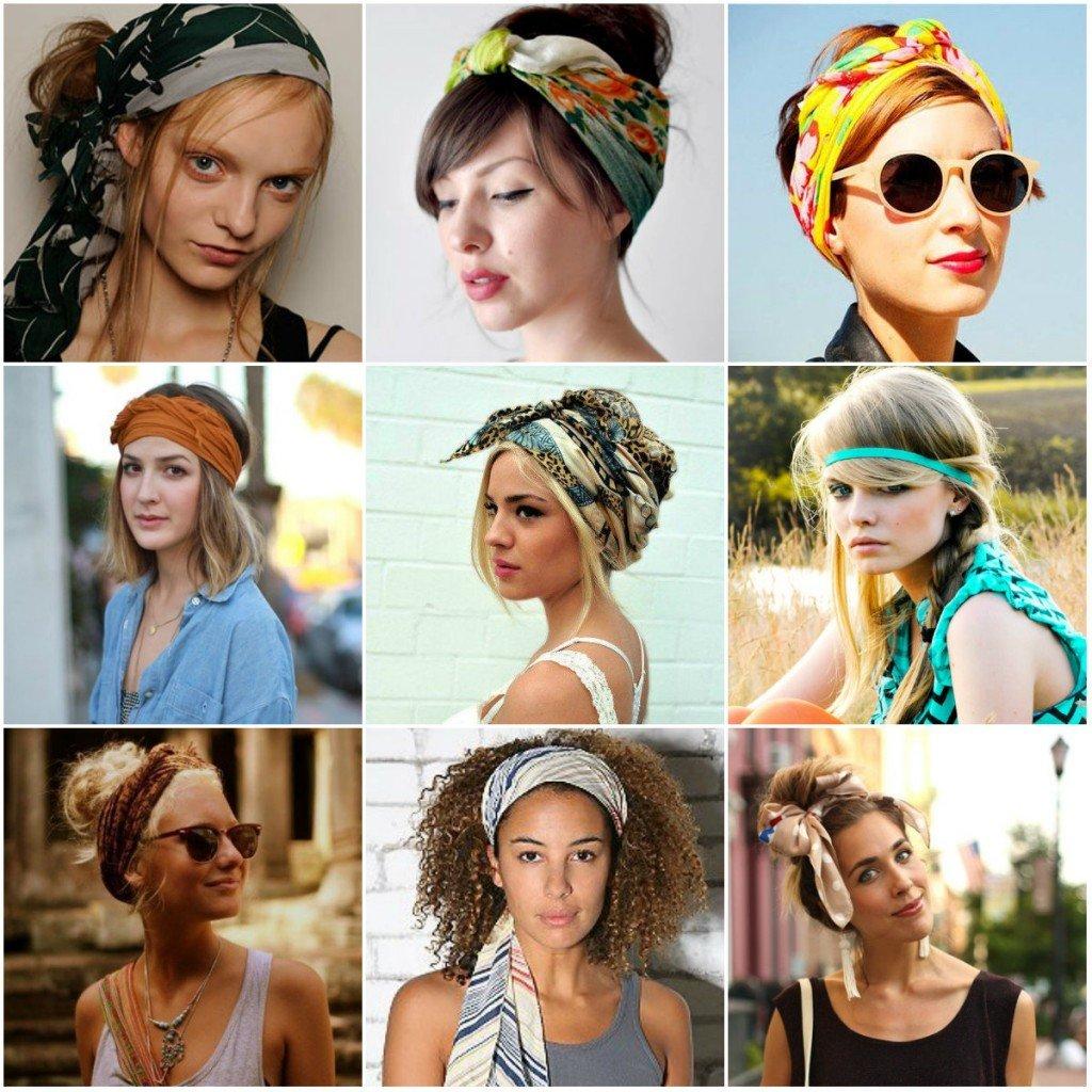 Как модно завязывать платок на голове