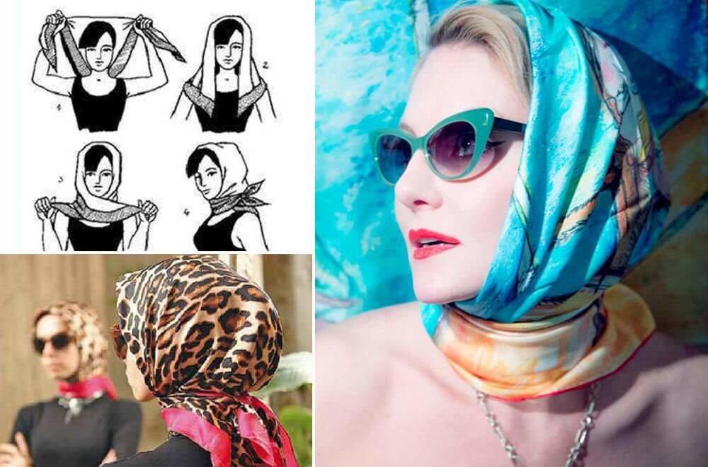 Как завязать платок на голове стильно