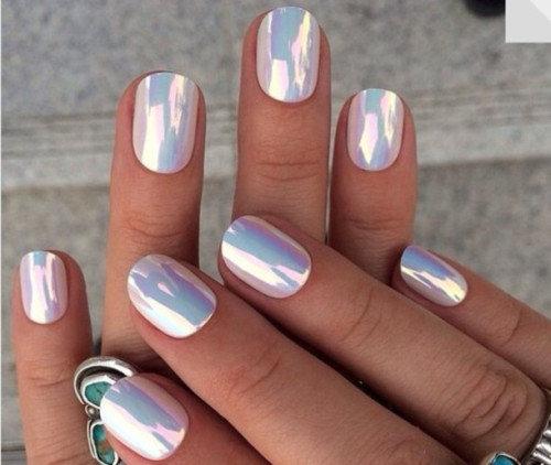 Зеркальные ногти как сделать?