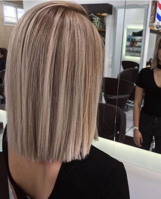 Растяжка от темного к светлому на волосах