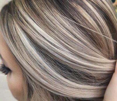 Мелирование на седые волосы (фото)