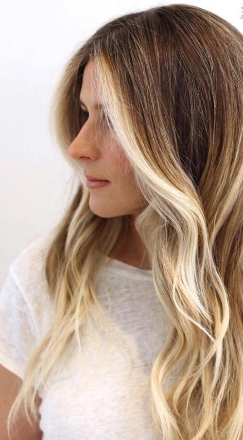 балаяж блондинки