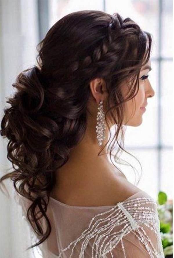 Прическа локоны собранные длинные волосы