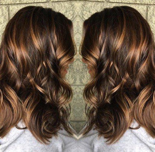 ореховый оттенок волос