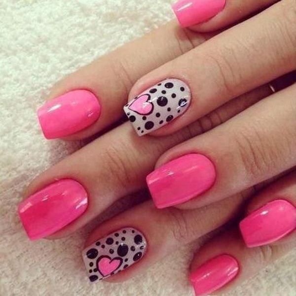 маникюр нежно розовый
