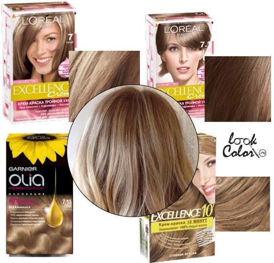 Цвет волос светло пшеничный