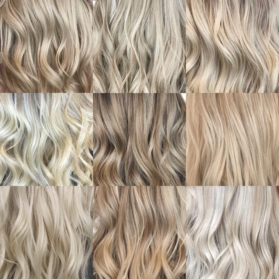 разнообразие оттенков блонд