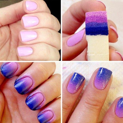 ногти с переходом цвета