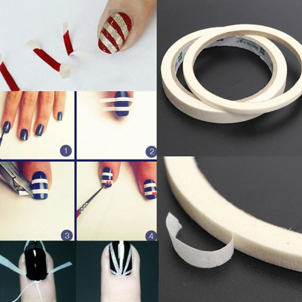 лента на ногтях