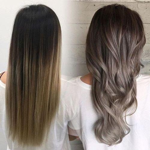 коричневый цвет волос с пепельным оттенком