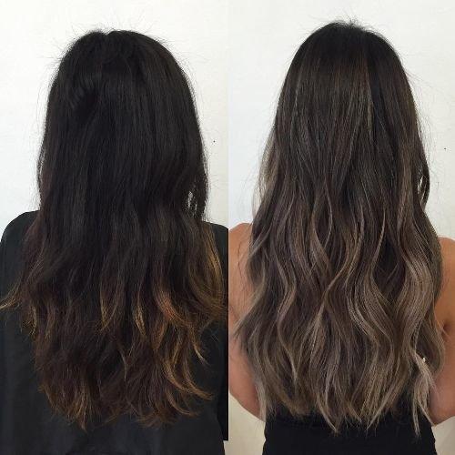 фото пепельный коричневый цвет волос фото