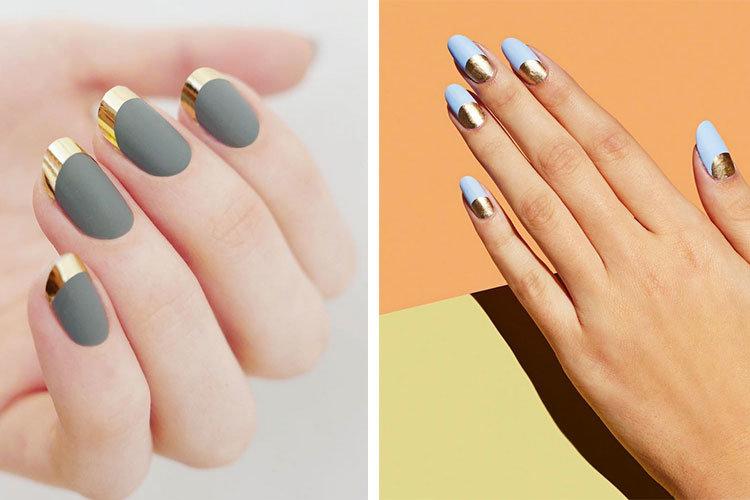 дизайн ногтей матовый