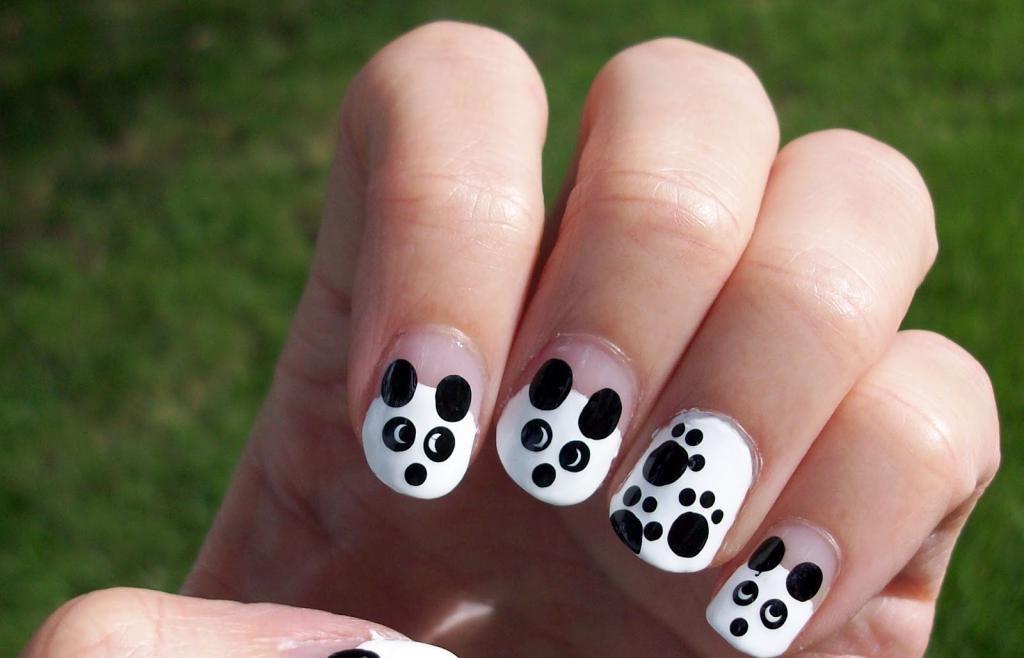 Панда маникюр