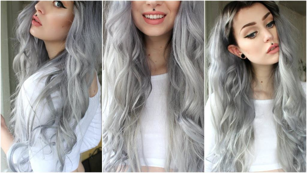 как получить серый цвет волос