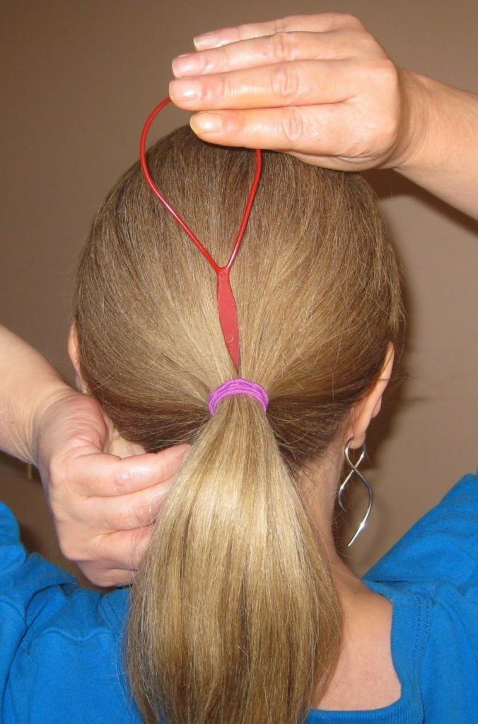 плетение кос с петлей для волос