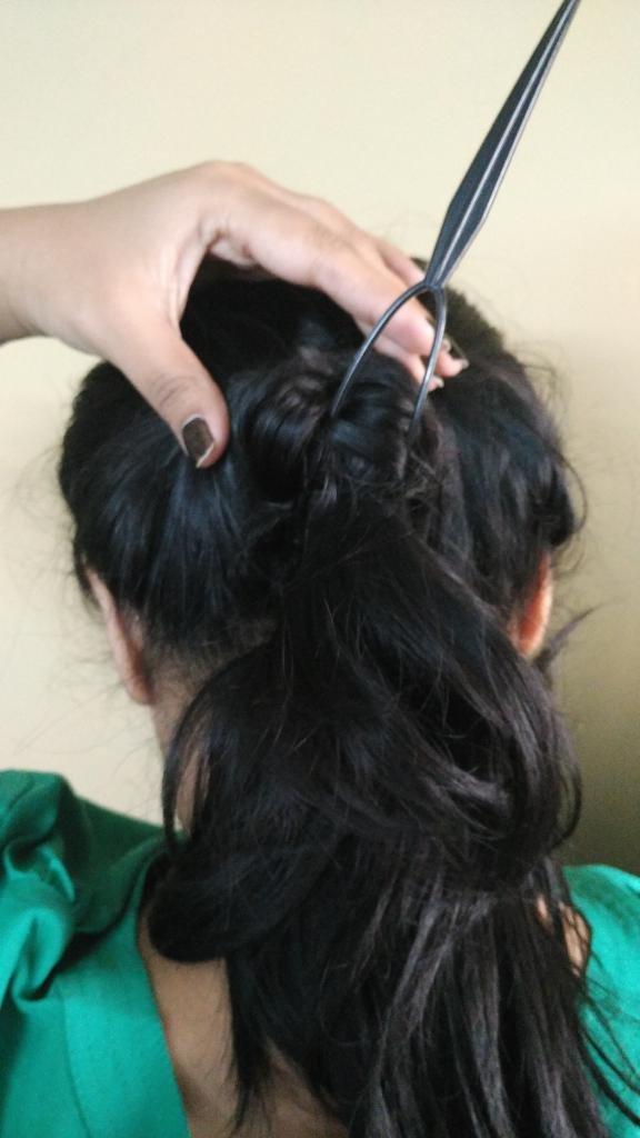 прически с помощью петли для волос