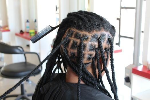 дреды из своих волос