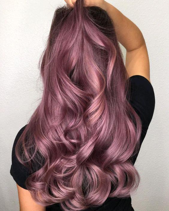 фиолетовый светлый шатен