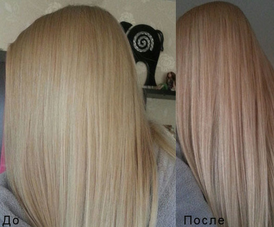 Оттеночный шампунь бежевый блонд