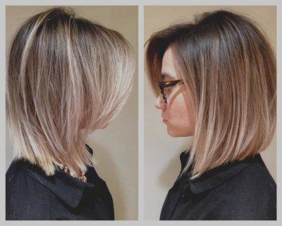 Окрашивание шатуш на короткие темные волосы