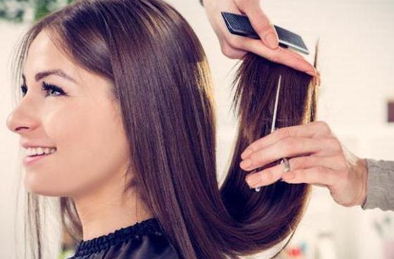 Обрезка длинных волос.