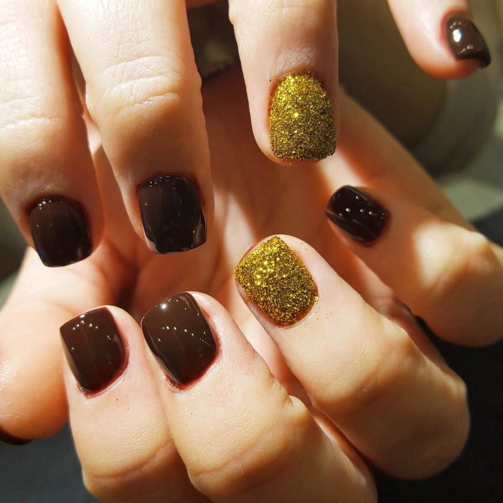Ногти коричневого цвета