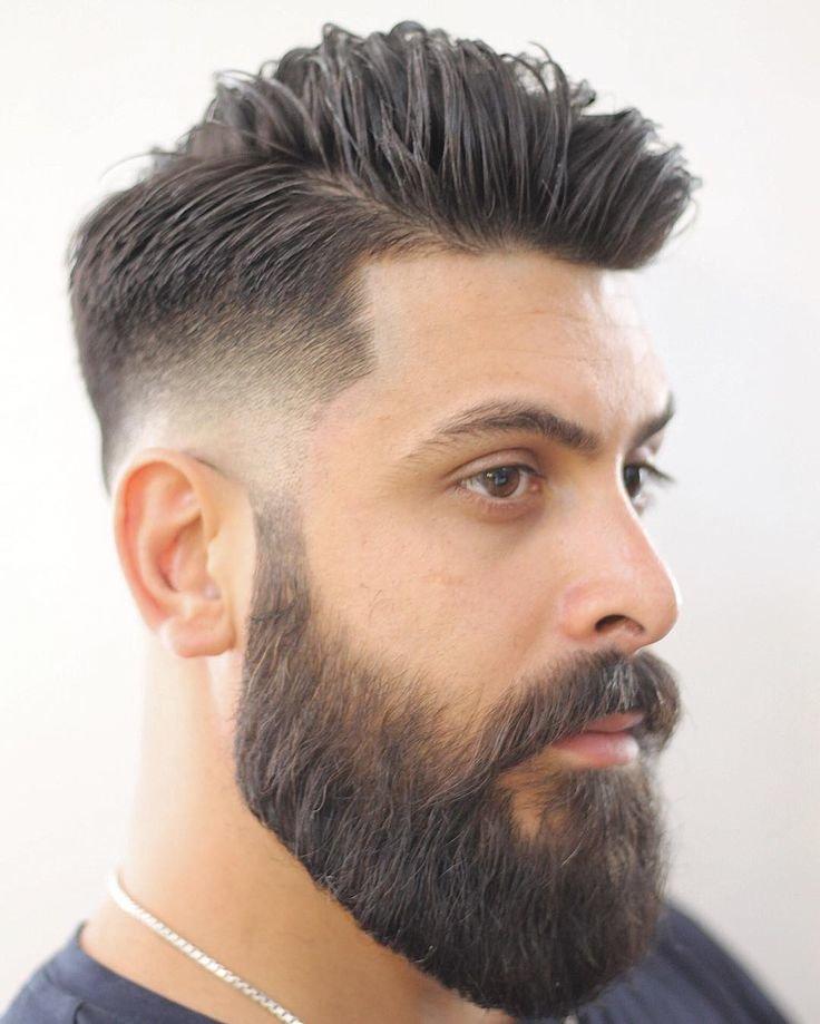 прическа с бородой
