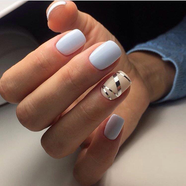 Маникюр на маленькие ногти фото