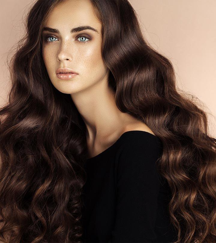 Длинные каштановые волосы