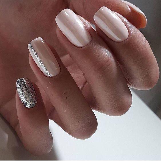 глиттер на ногтях