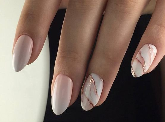мраморные ногти гель лаком