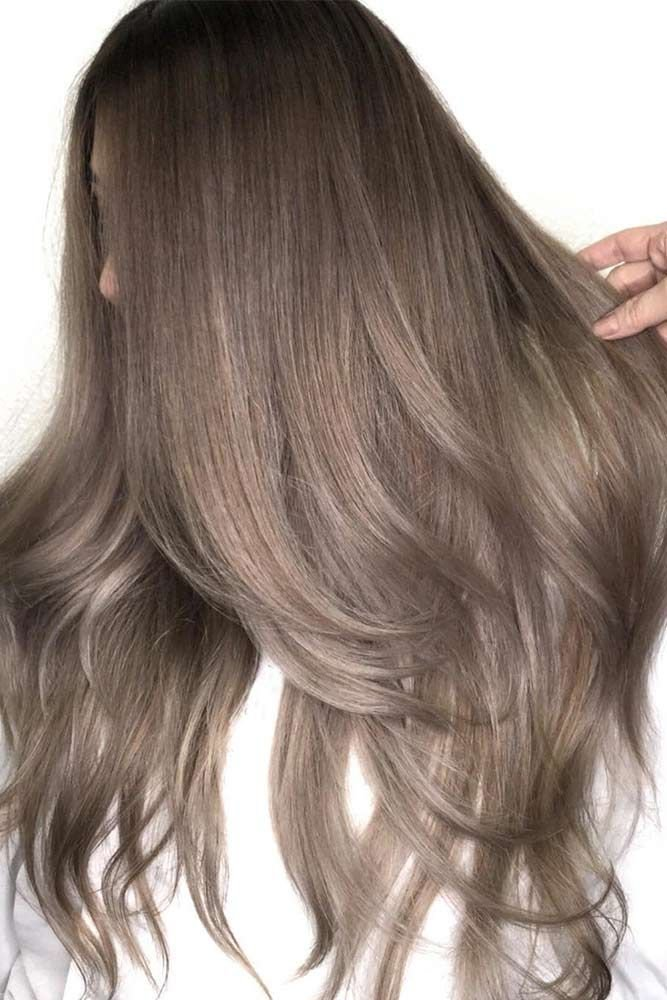 шоколадно пепельный цвет волос