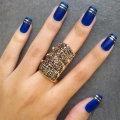 Синий гель-лак. Дизайн ногтей синим лаком - идеи