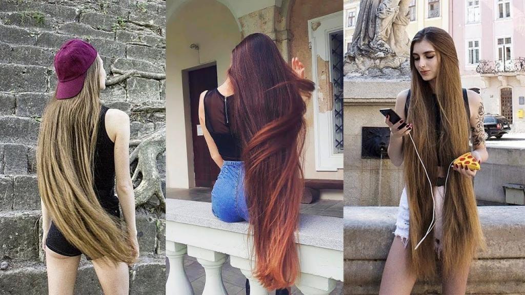 девушки с длинными волосами разного цвета
