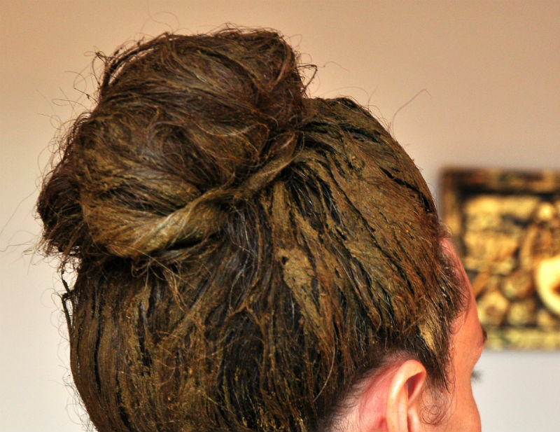 хна на всей длине волос