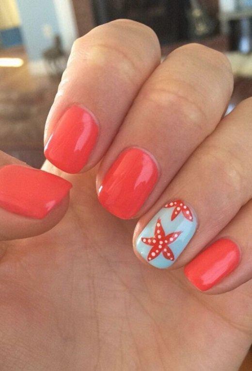 Неоновый персиковый оттенок