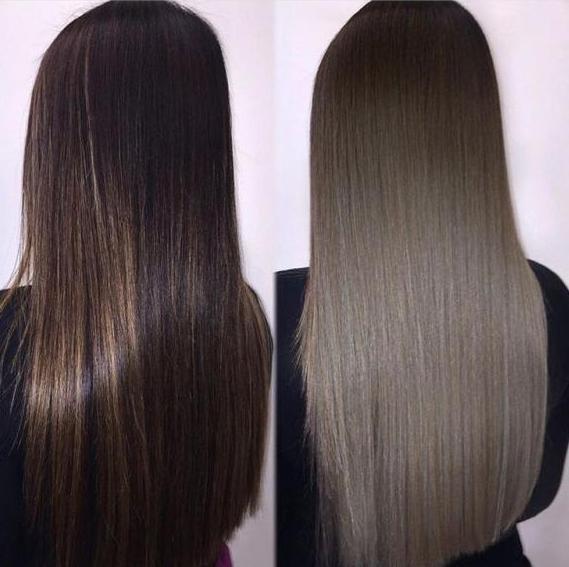 темный пепельный оттенок волос