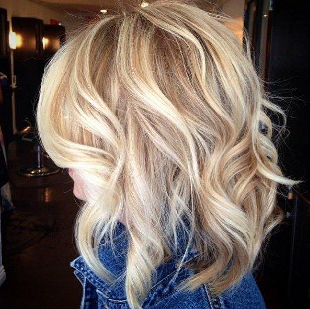 укладка волос на волос до плеч
