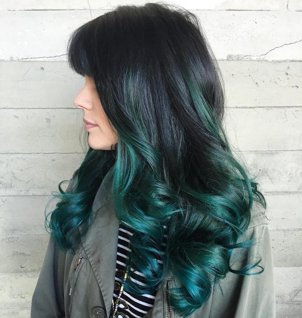 Окрашивание волос градиент фото